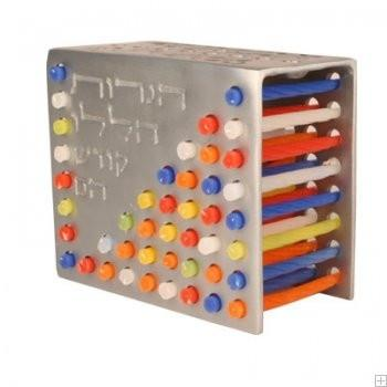 Color Aluminium Candles Stand-Menorah
