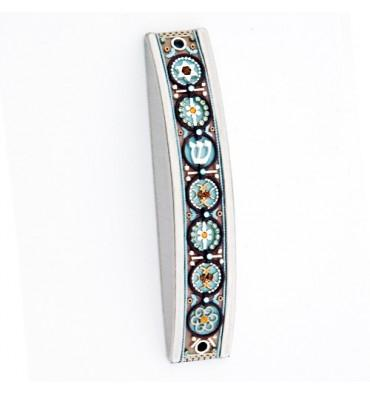 Colorful Arched Mezuzah Case Colorful Arched