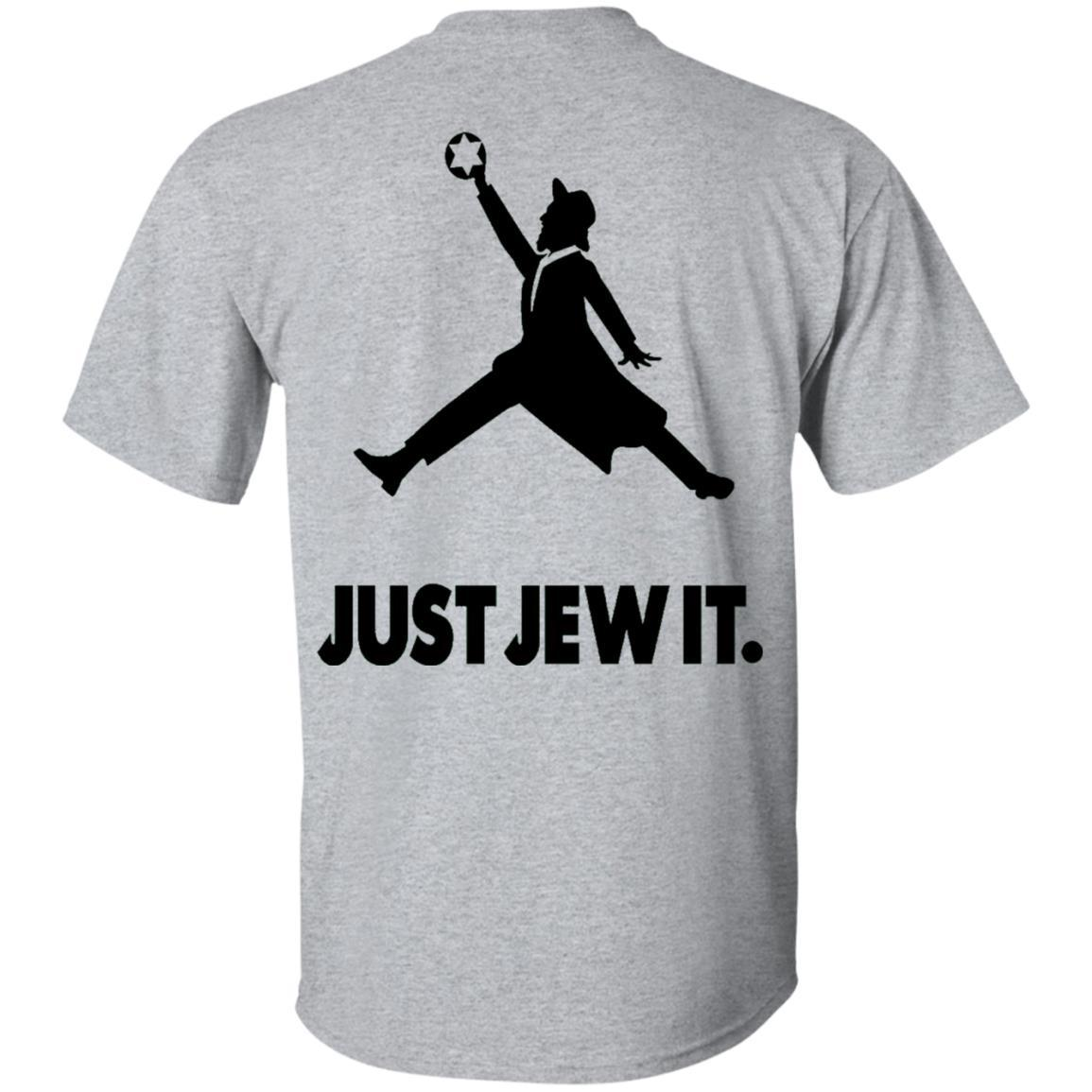 Cool Star of David Just Jew It on Backside Ultra Cotton T-Shirt T-Shirts Sport Grey S