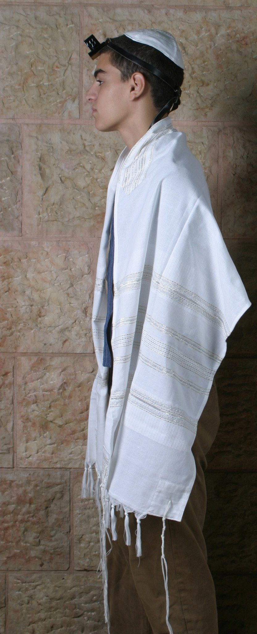 Cotton Tallit - Gold and White Gabrieli Cotton Tallit