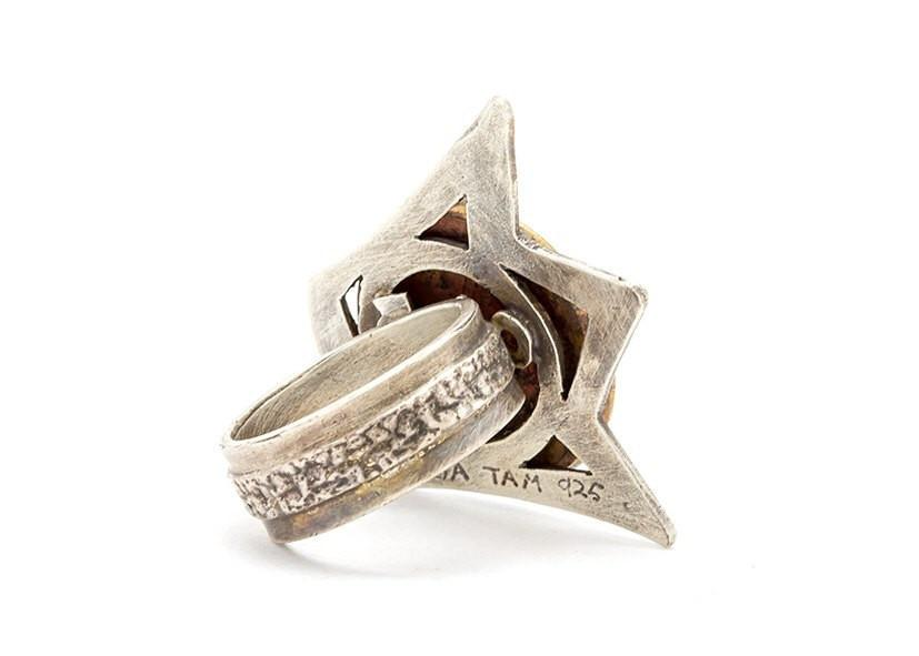 Crowned Israeli Coin Ring - Sterling Silver