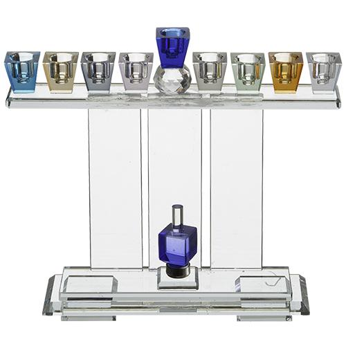 Crystal Elegant Hanukkiah - Colorful 1316