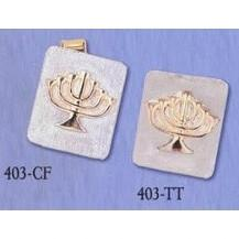 Cuff Links & Tie Tacks - Menorah (Rectangle)