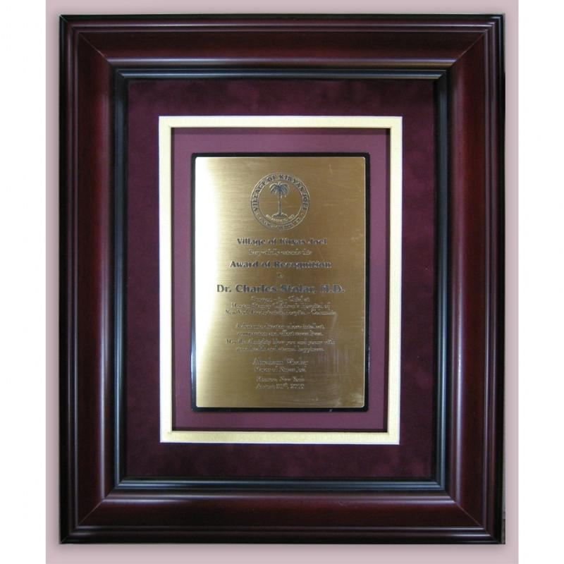 Custom Engraved Award Recognition Plaque Large