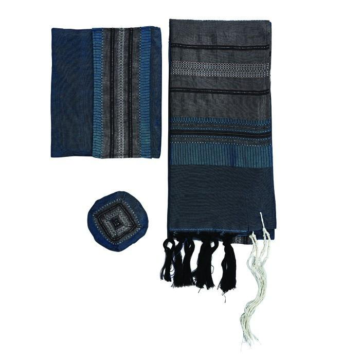"Deep Teal Silk Tallit Set By Gabrieli 50"" x 80"" (125/200 cm)"