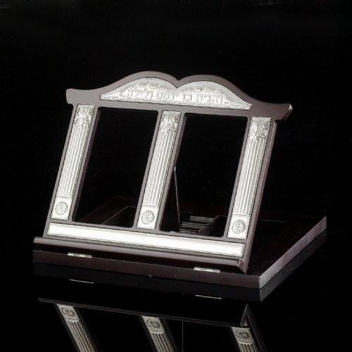 Deluxe Solid Wood & Sterling Silver Book Stand