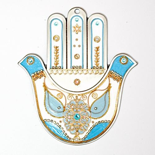 Doves Hamsa Hand Wall Hangings Maroon