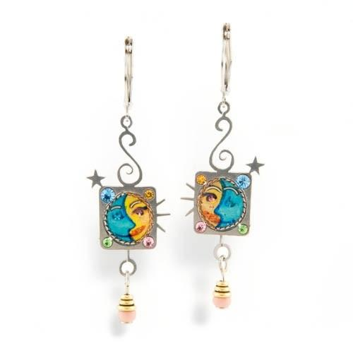 Earrings - Artistic Colorful Couples