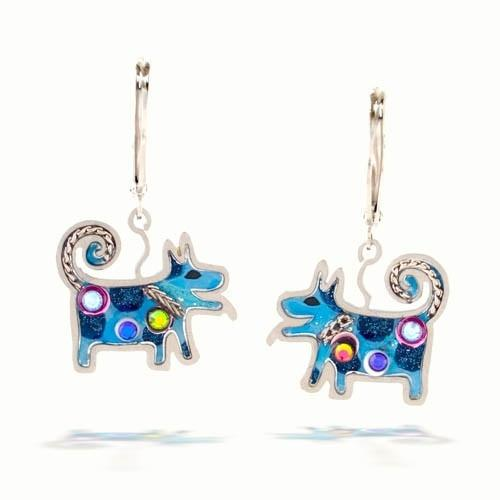 Earrings - Artistic Colorful Dogs