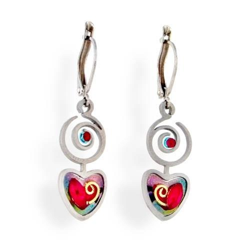 Earrings - Artistic Colorful Hearts