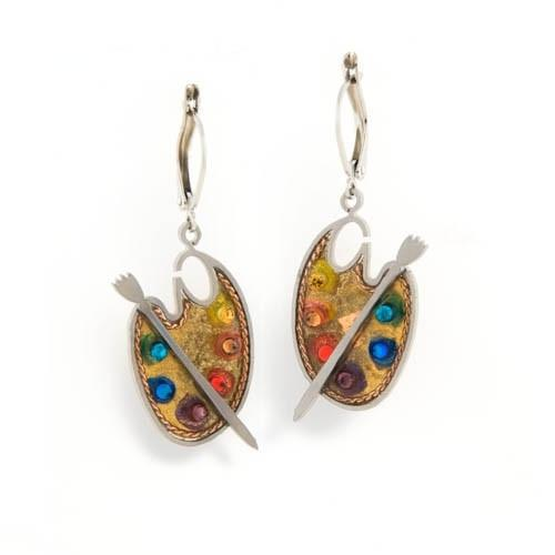 Earrings - Artistic Colorful Painter
