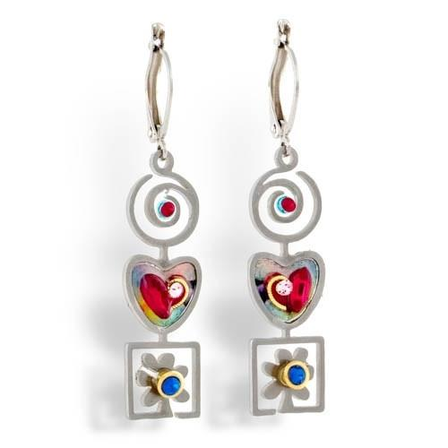 Earrings - Artistic Colorful Shapes