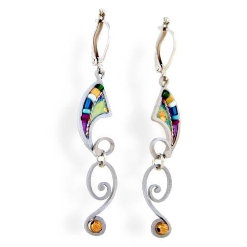 Earrings - Artistic Colorful Shofars