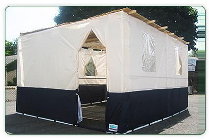 EZ Sukkah Interlocking Frame Nylon Sukkah
