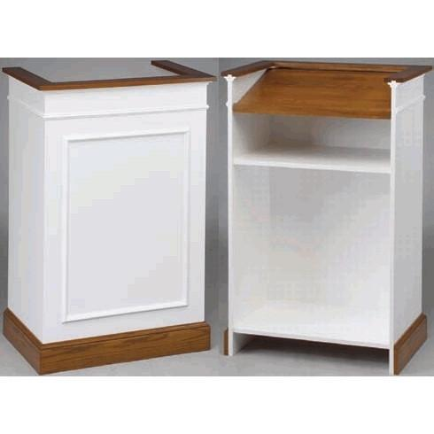 Fancy White Podium Pulpit Shtender Custom