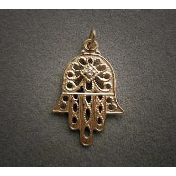 Filigree Hamsa With Diamond Pendant None Thanks