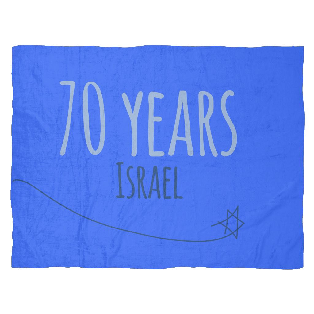 Fleece Blanket - Israel's 70th Birthday Blankets Medium Fleece Blanket