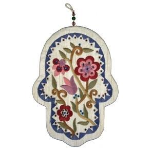 Flower Fabric Hanging Hamsa