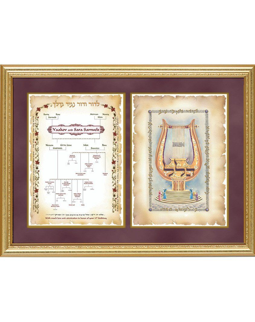 Framed Personalized Family Tree & Hallel Art art prints
