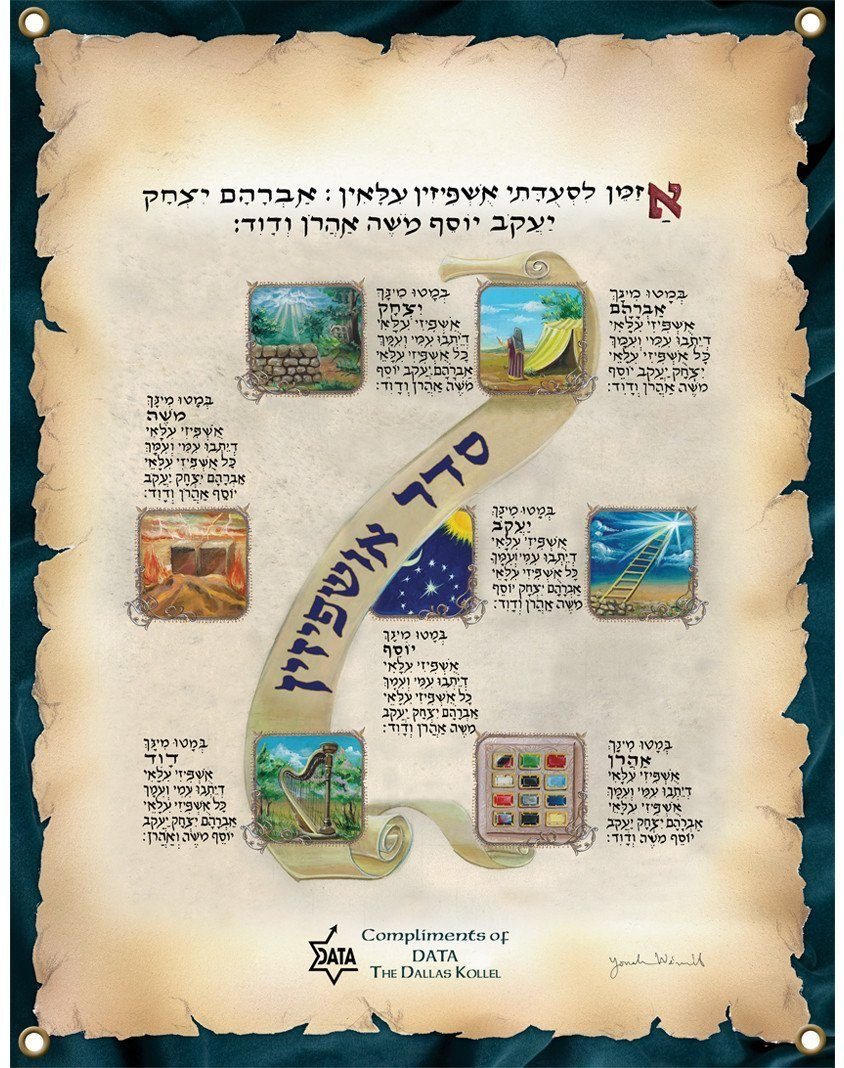 Framed Ushpizen Personalized Sukkah Poster Award organizations