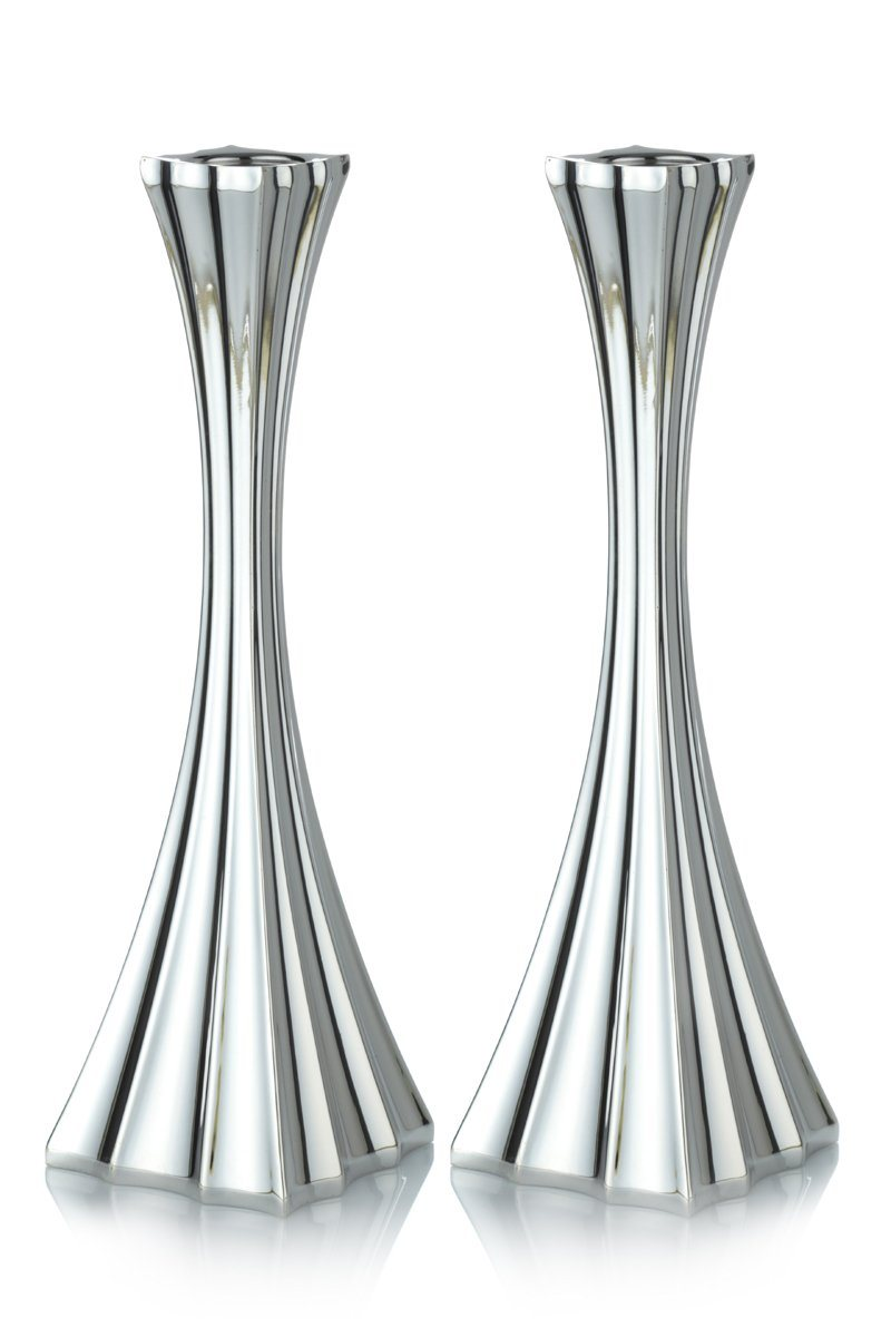 Galil Sterling Silver Smooth Finish Candlesticks