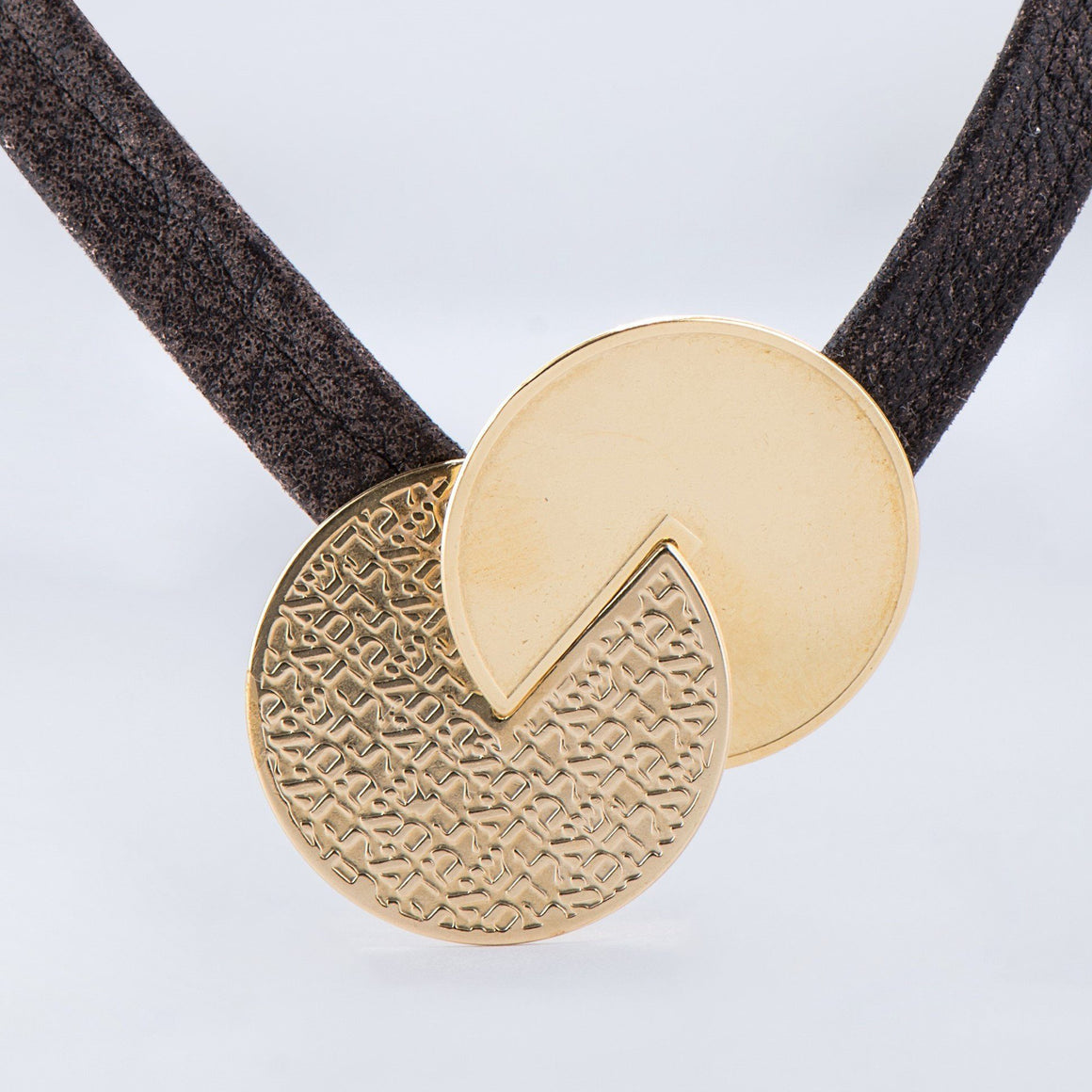 Geometric Necklace, Leather Necklace, Religious Necklace,