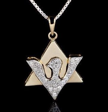 Glittering Diamonds Dove Shape Pendant