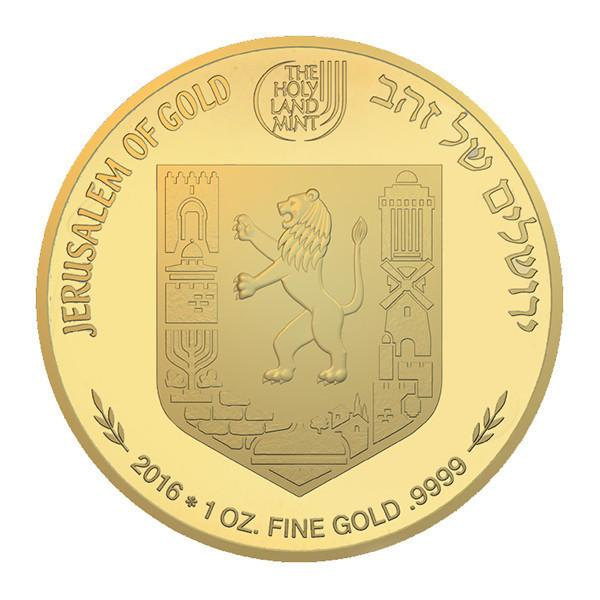 Gold Medallion Coin - Views Of Jerusalem