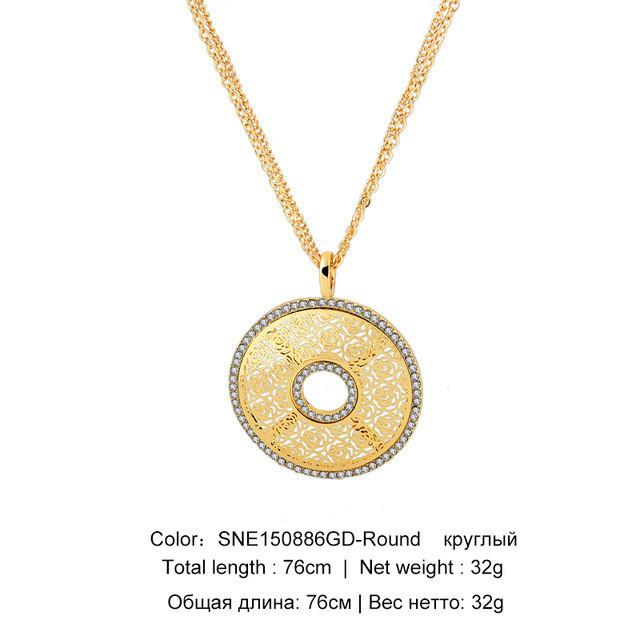Gold Plated Crystal Hamsa Necklace For Women jewelry