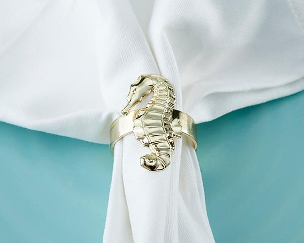 Gold Seahorse Napkin Ring (Set of 4) Gold Seahorse Napkin Ring (Set of 4)