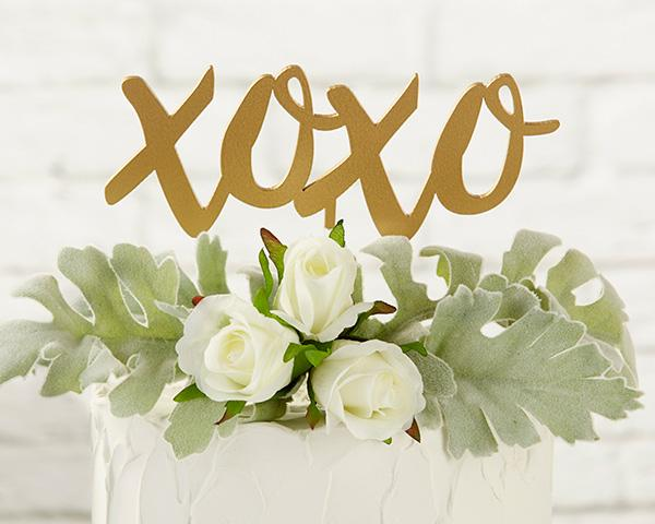 Gold XOXO Cake Topper Gold XOXO Cake Topper