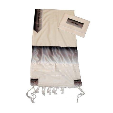 Hand Woven Tallit Set - Black And White