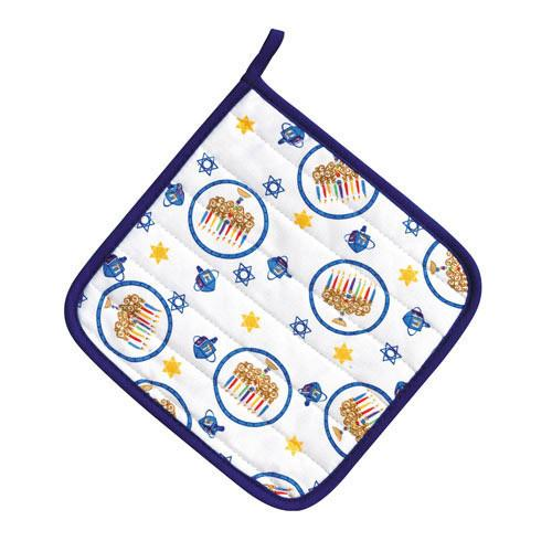 Hanukkah Pot Holder White Textiles