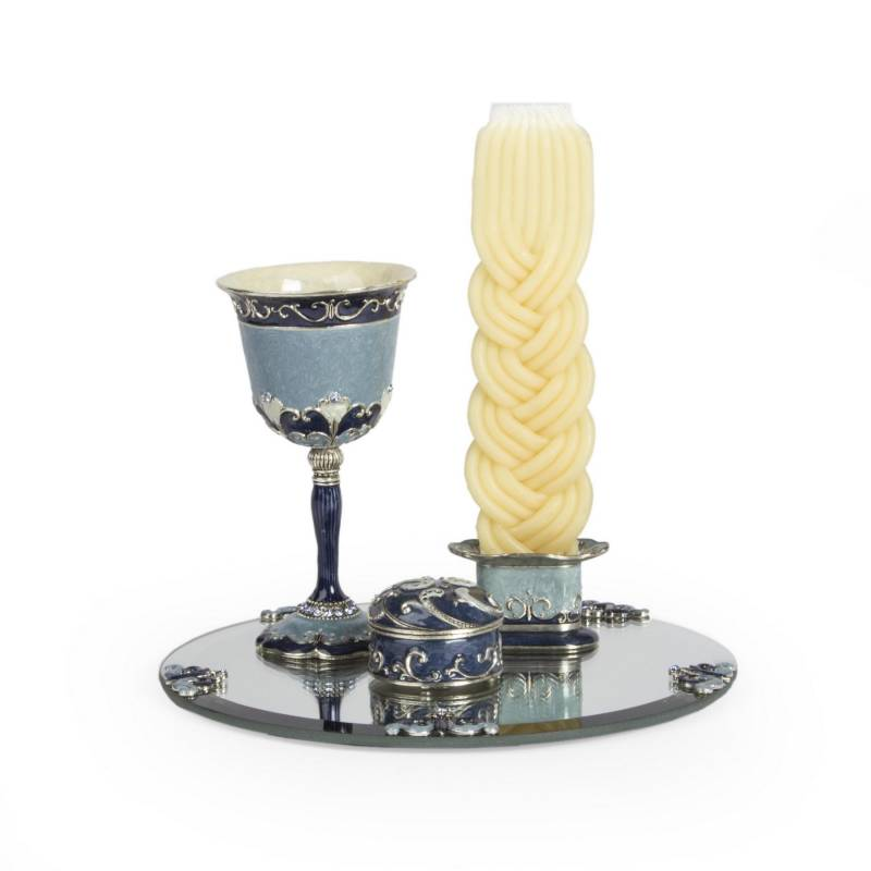 Havdalah Set - Ocean Blue Enamel None Thanks