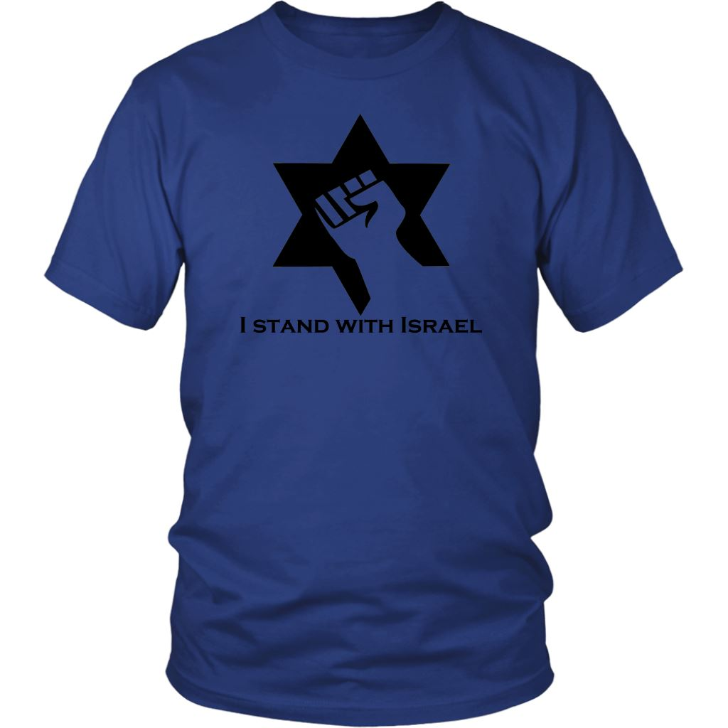 I Stand With Israel Shirts T-shirt District Unisex Shirt White S