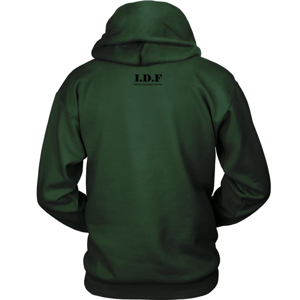 IDF Tzahal Sweatshirt Backside Print T-shirt Unisex Hoodie Dark Green S