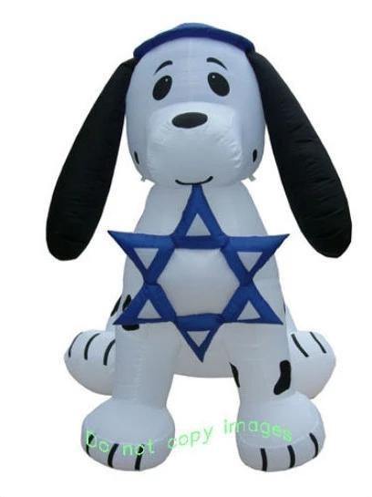 Inflatable Dalmation Puppy Dog - Star Of David 7'