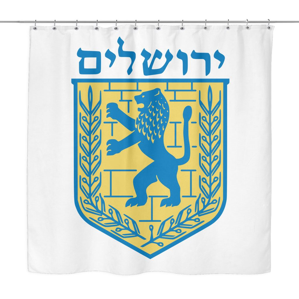 Jerusalem - Shower Curtain Shower Curtains White