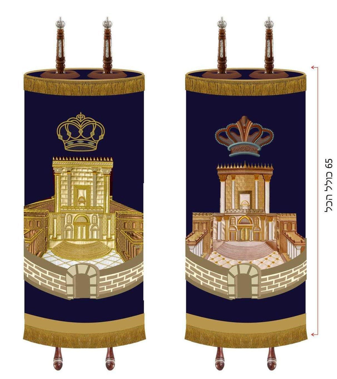 Jerusalem Torah Mantle Cover Special Edition