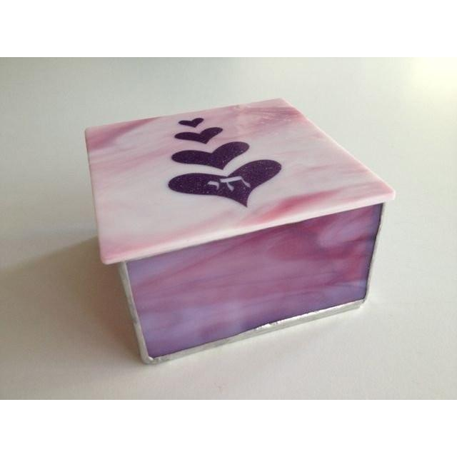 Jewelry Box - Hearts Pink Purple Lavender