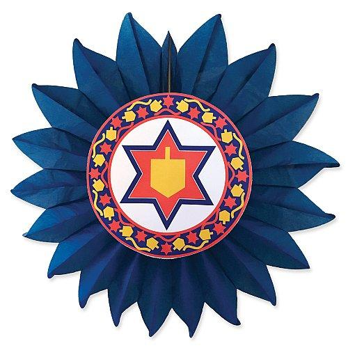 Jewish Star with Dreidel Fan Hanukkah