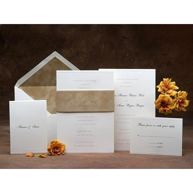 Jewish Wedding Invitations Beige Add Thank You Cards