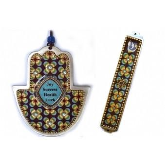 Judaica Hamsa And Mezuza Set No Thanks