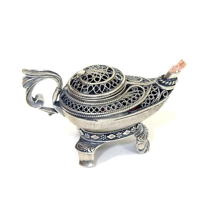 Judaica Silver Mini Oil Lamp