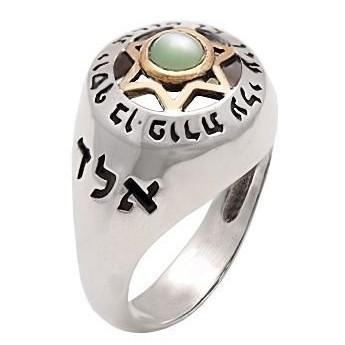 Kabbalah Evil Eye Ring Zirconia Clear