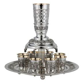 Kiddush Fountain For 8 Sterling Silver