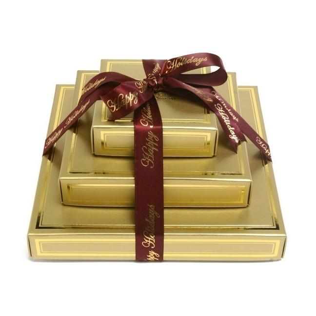 Kosher Chocolate Delights Gold Gift Tower Gift Basket