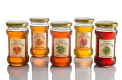 Kosher Israeli Raw Honey Glass Jars in Flavors