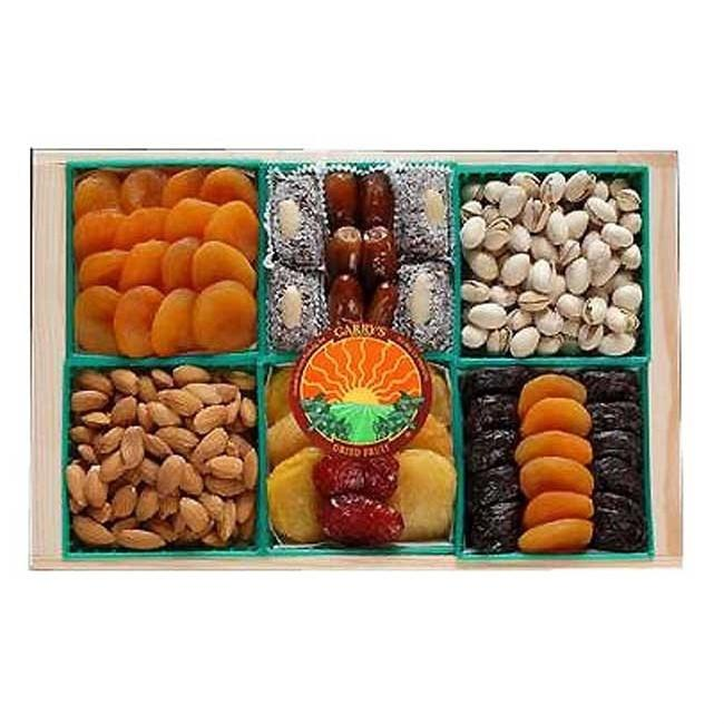 Kosher Mixed Dried Fruit & Nut Crate Gift Basket