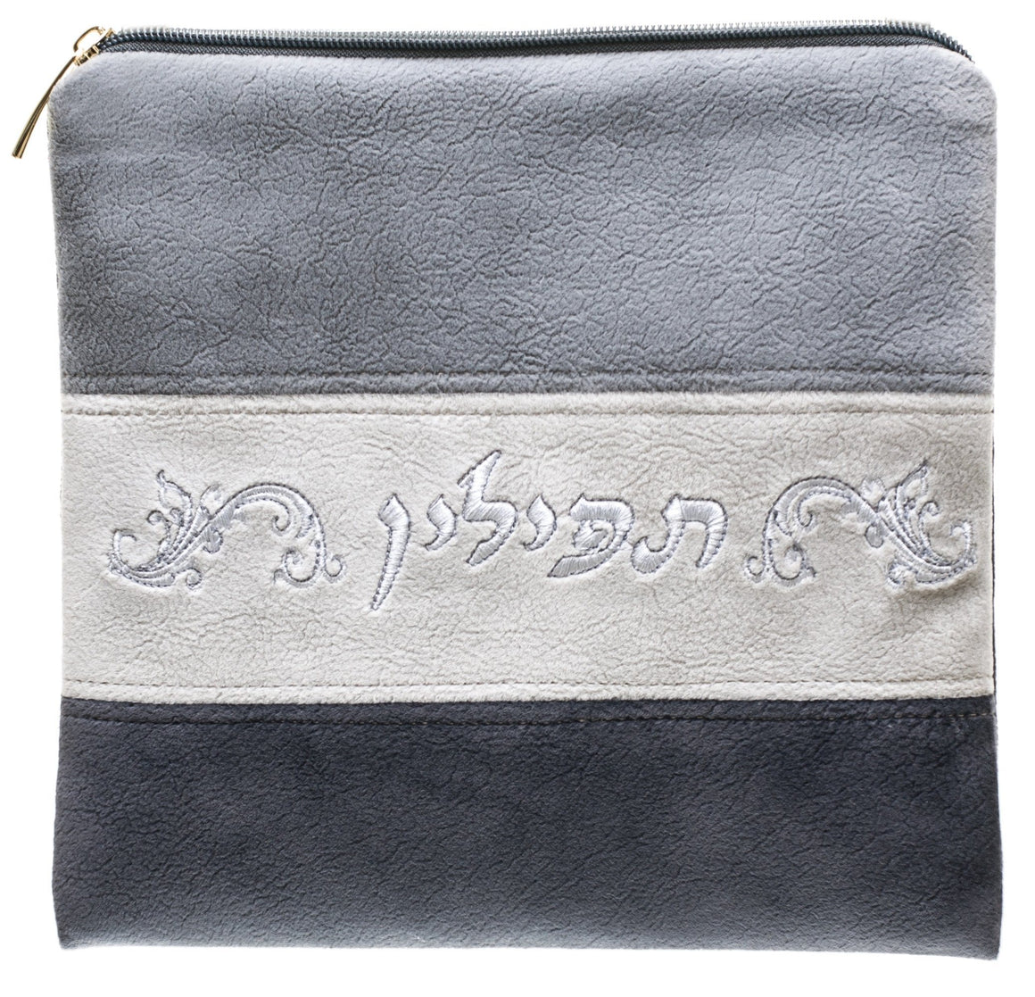 Leather Suede Grey Tefillin Bag